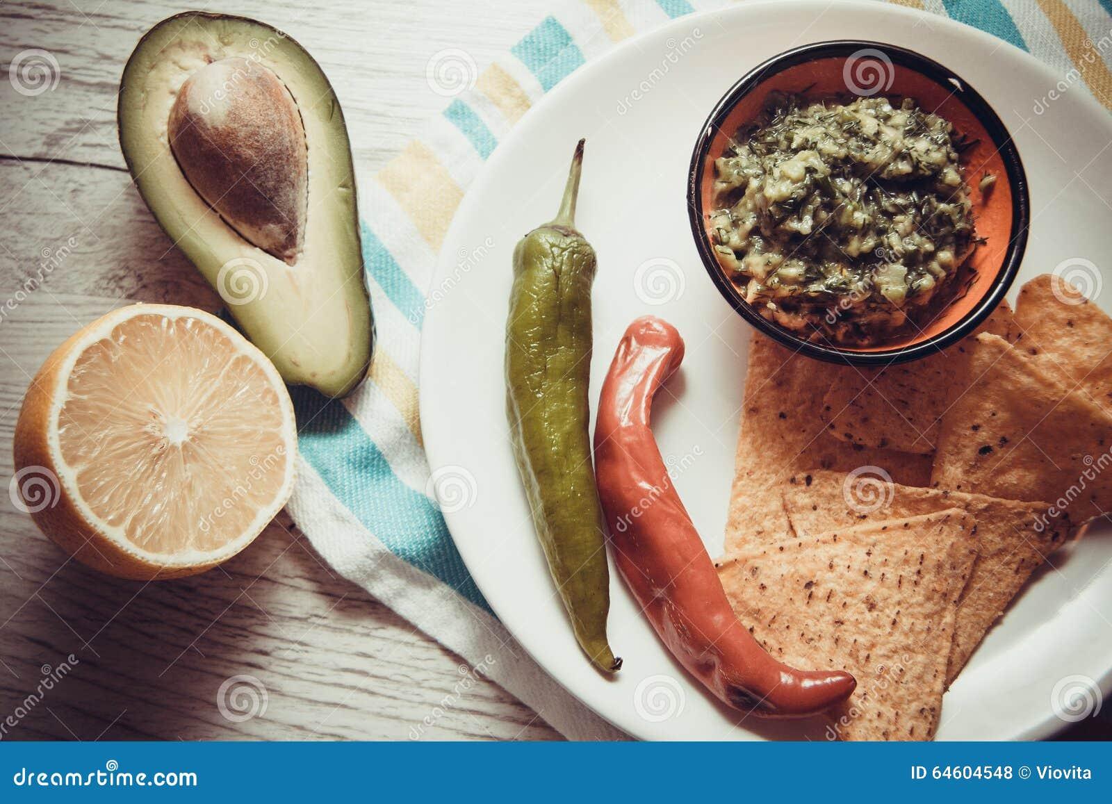 Guacamole della salsa fatto dell avocado