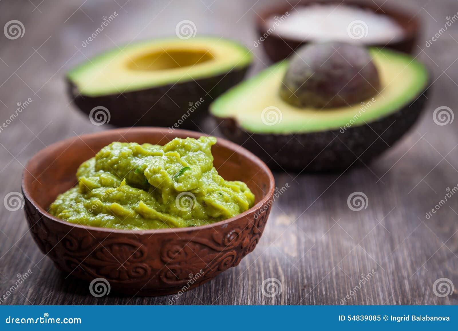Guacamole met avocado