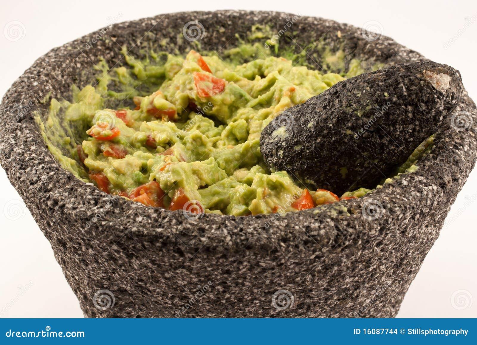Guacamole In Molcajete Stock Photo. Image Of Fresh, Salsa