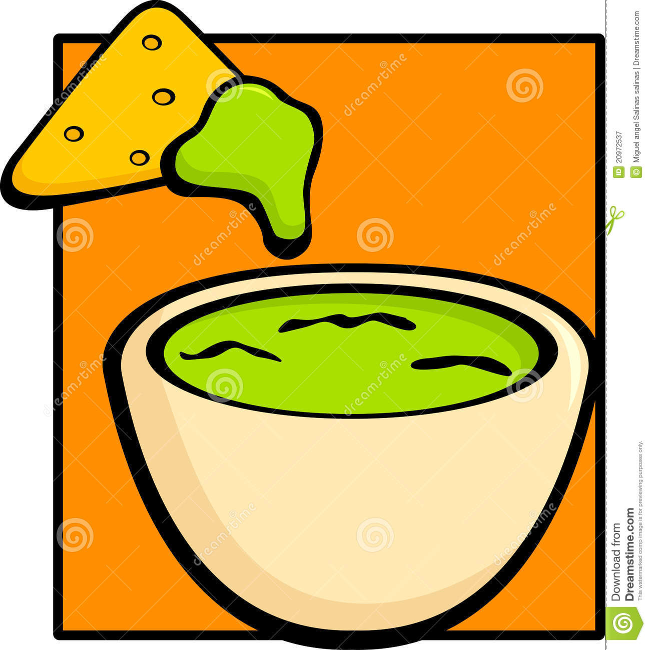 Guacamole And Tortilla Chip Royalty Free Stock Photography - Image ...