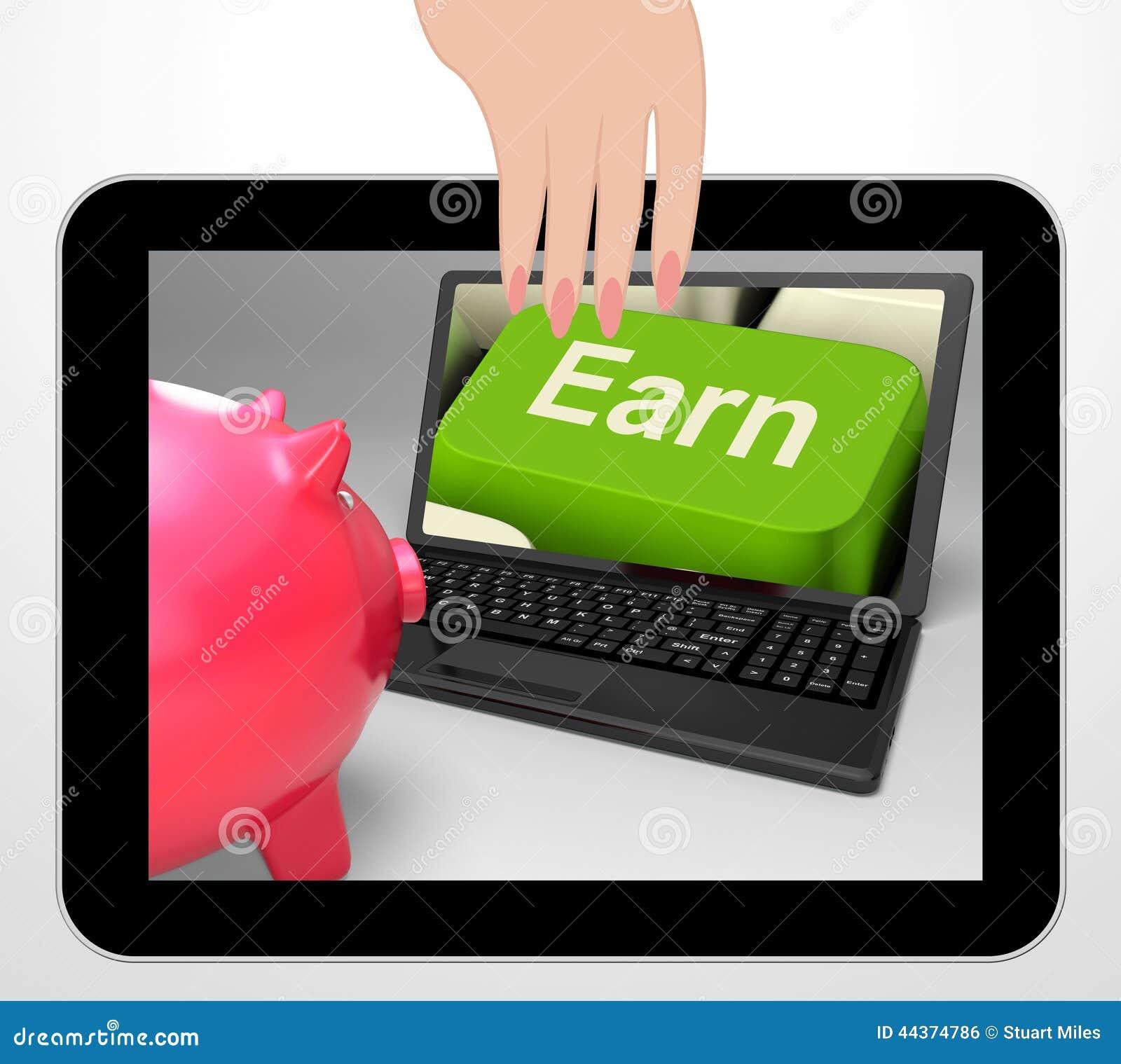 Guadagni il profitto chiave ed il reddito di reddito di web delle esposizioni