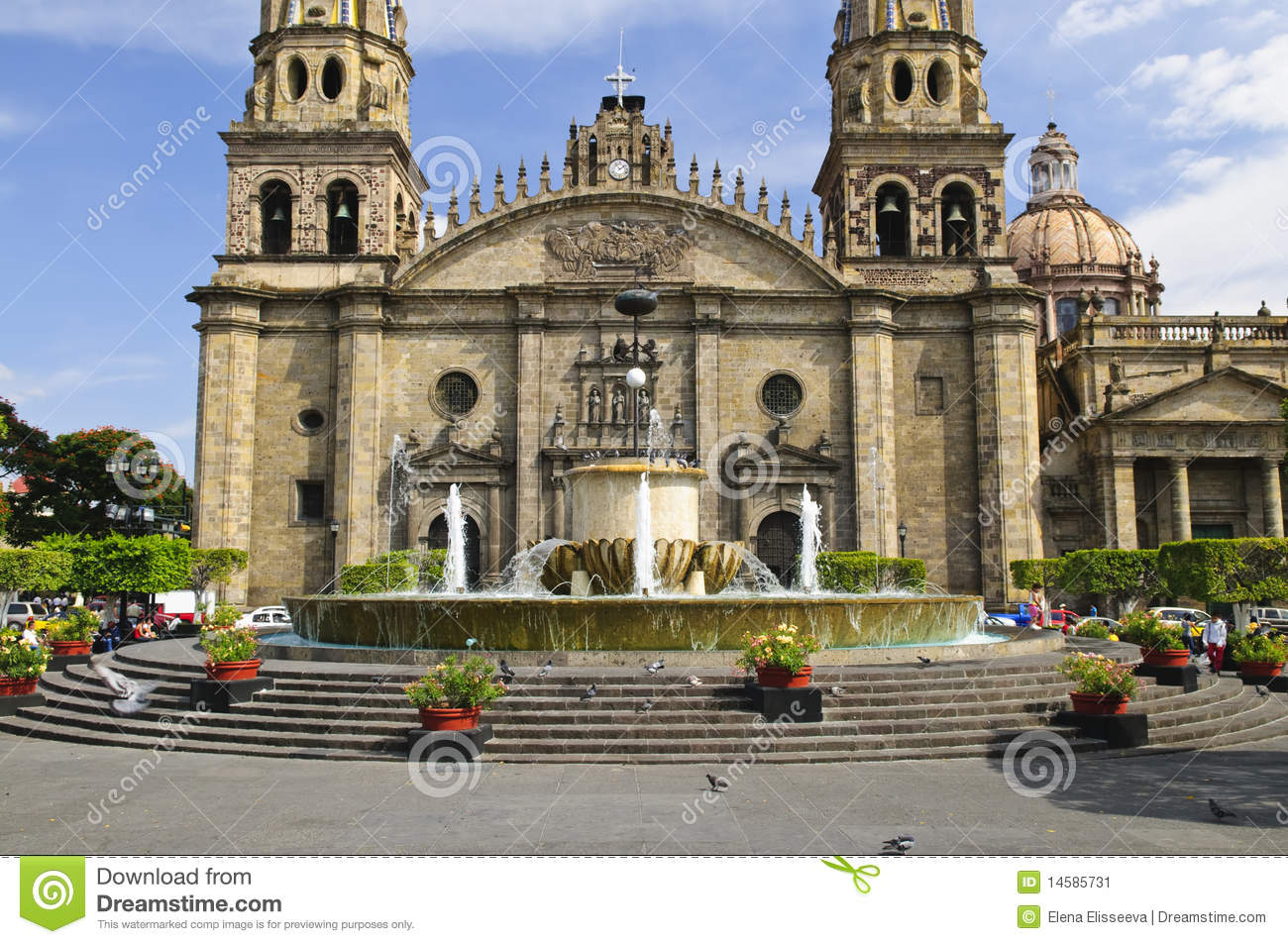 Download Guadalajara Cathedral In Jalisco, Mexico Stock Image - Image of exterior, entrance: 14585731