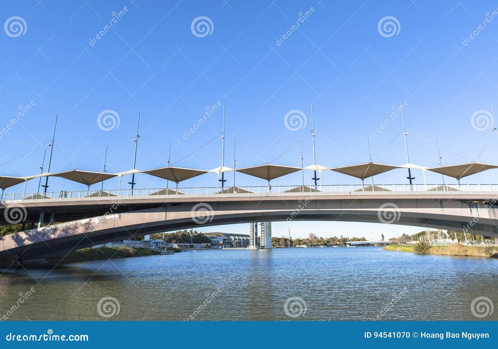 Guadalquivir-Fluss bei Sevilla, Spanien
