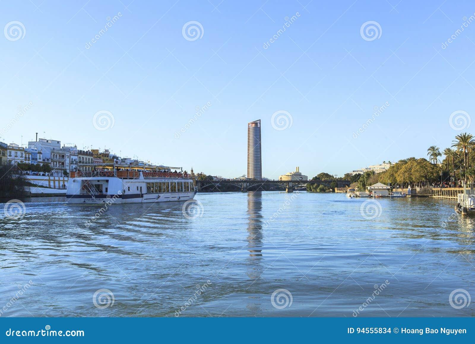 Guadalquivir-Fluss in Sevilla, Spain