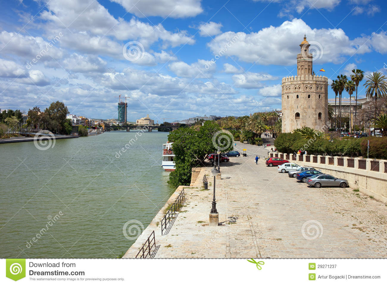Guadalquivir River and Gold Tower in Seville