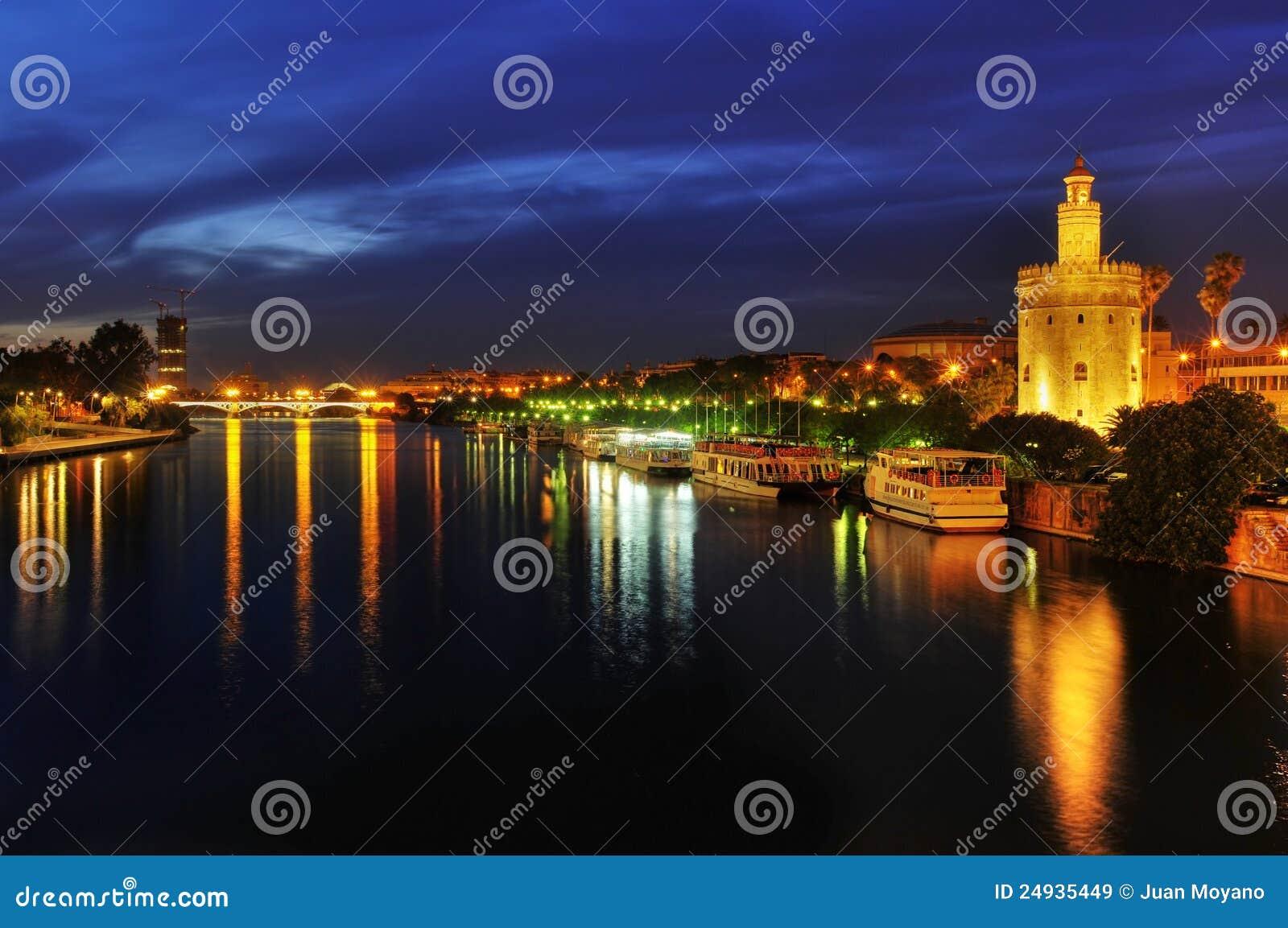 Guadalquivir River and the Torre del Oro in Sevile