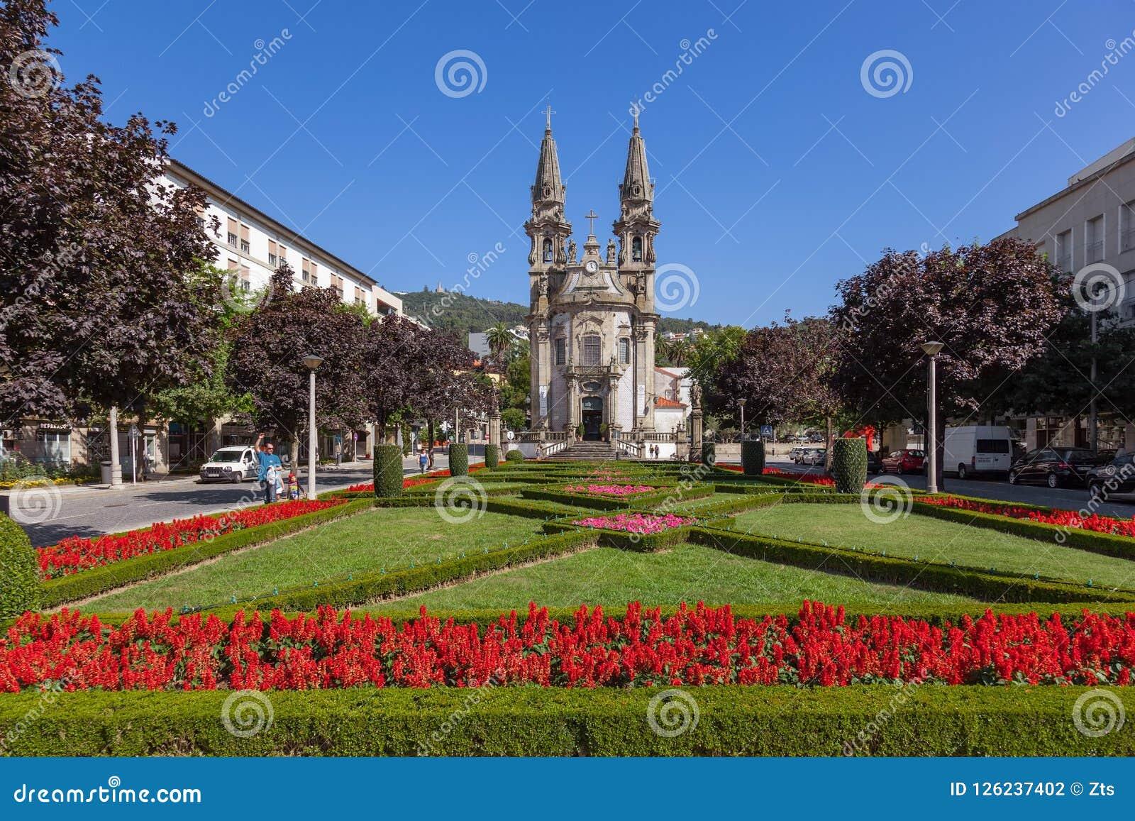 Gualter för Sao för Guimaraes Portugal - Nossa Senhora da Consolaçao e DOS Santos Passos Church aka kyrka