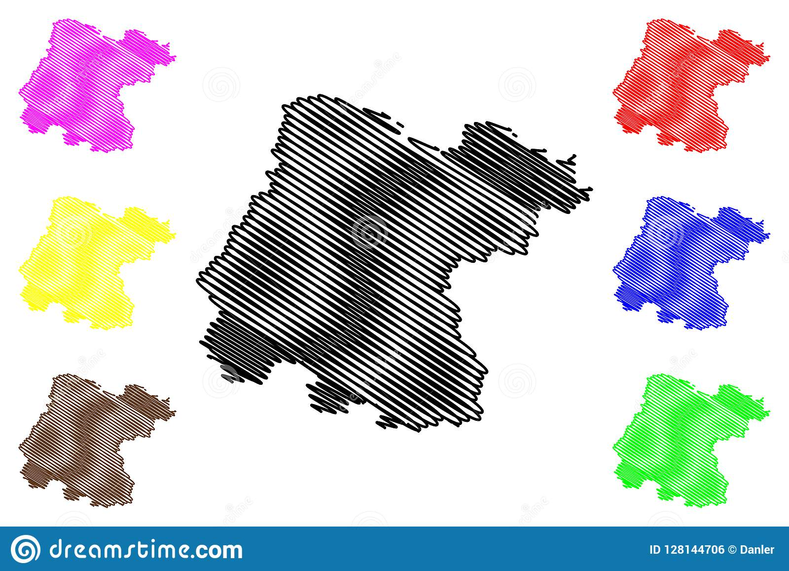 Mexico Map Guanajuato.Guanajuato Map Vector Stock Vector Illustration Of Icon 128144706