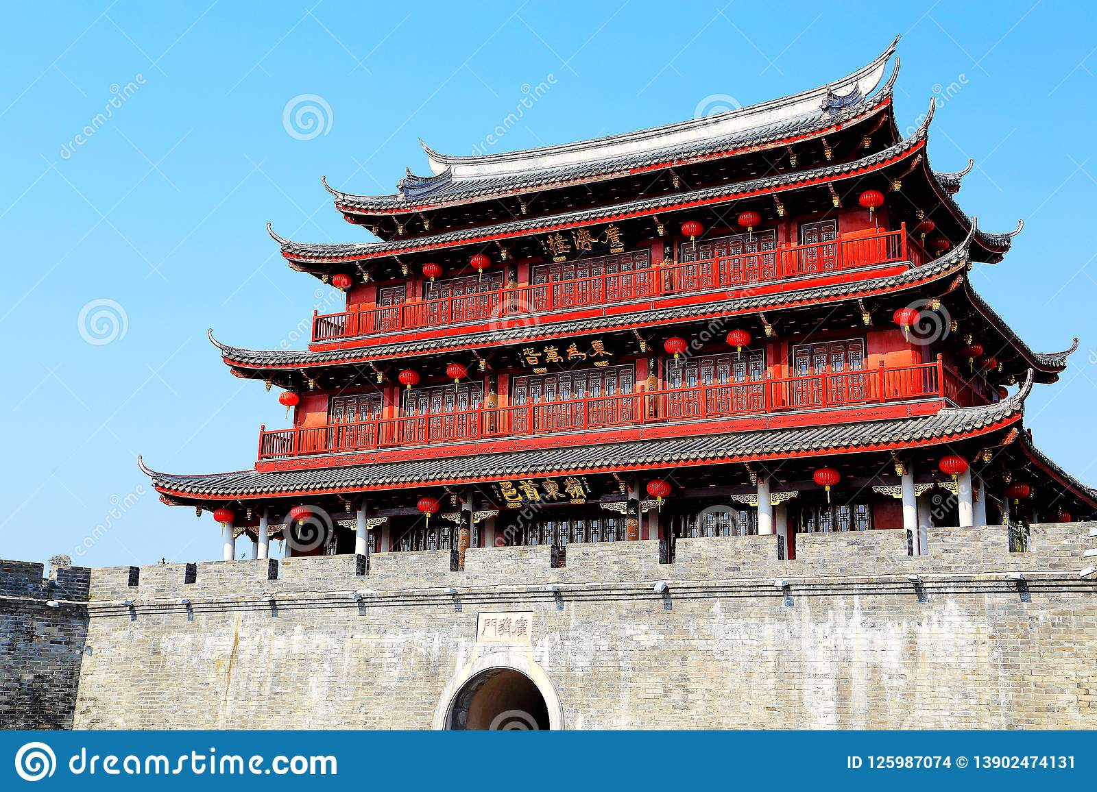 Guangji gate , Heritage buildings with traditional Chinese style and local characteristics