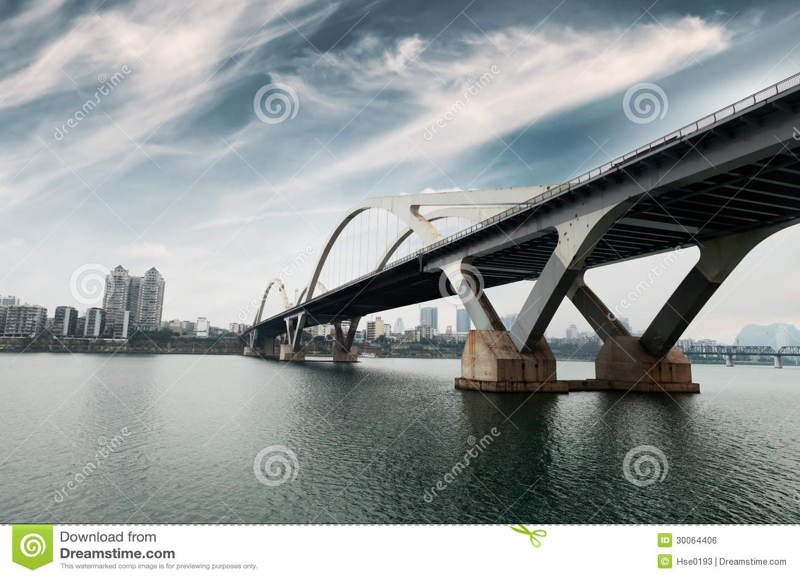 Modern arch bridge in south China