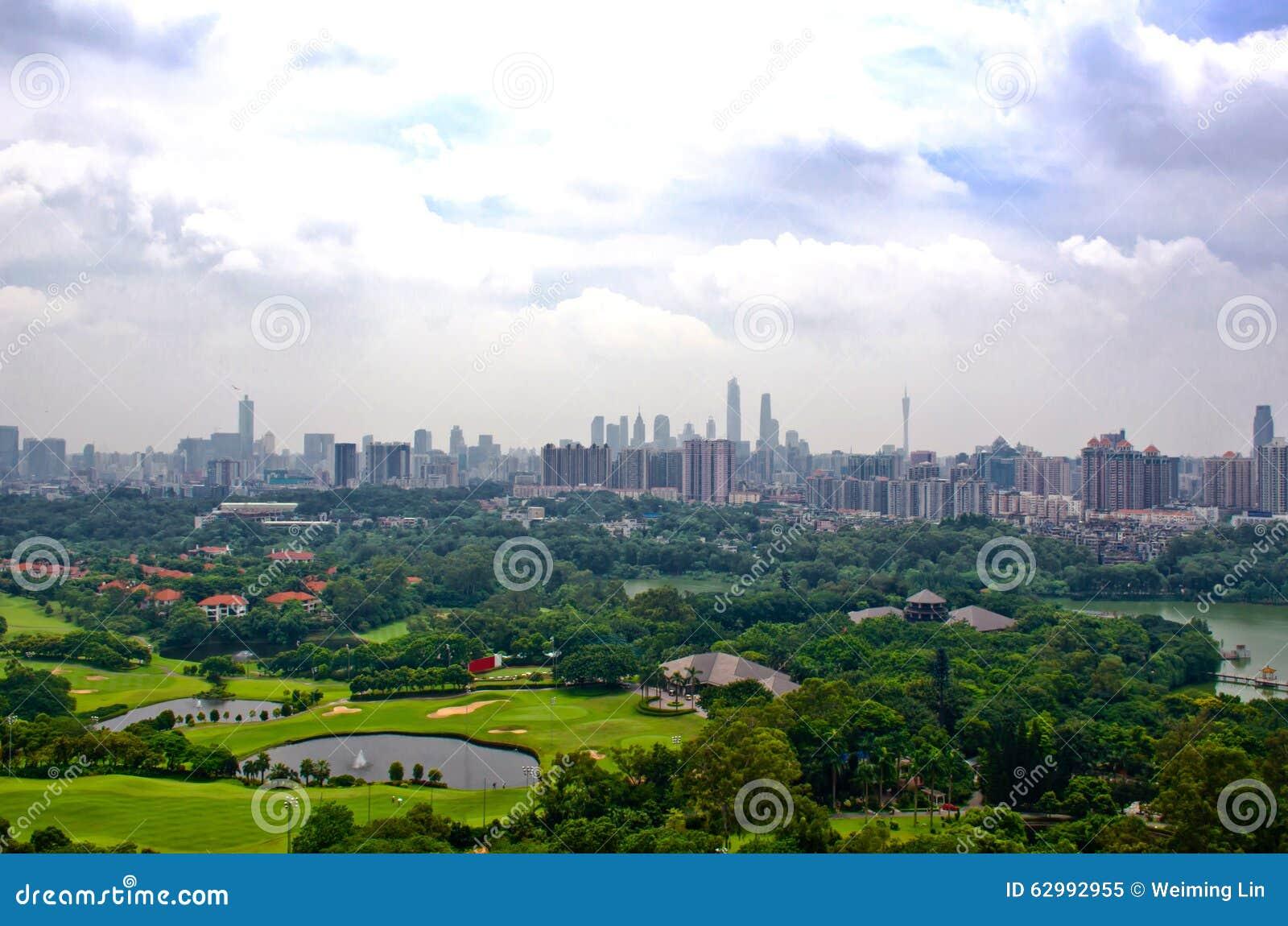Guangzhou-Ansicht vom baiyun Berg