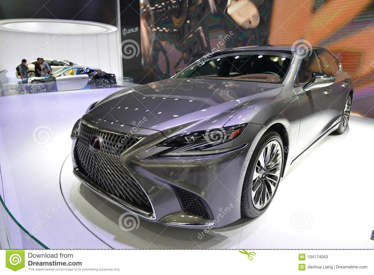 Lexus All New Ls500h Saloon Car Editorial Stock Photo Image Of