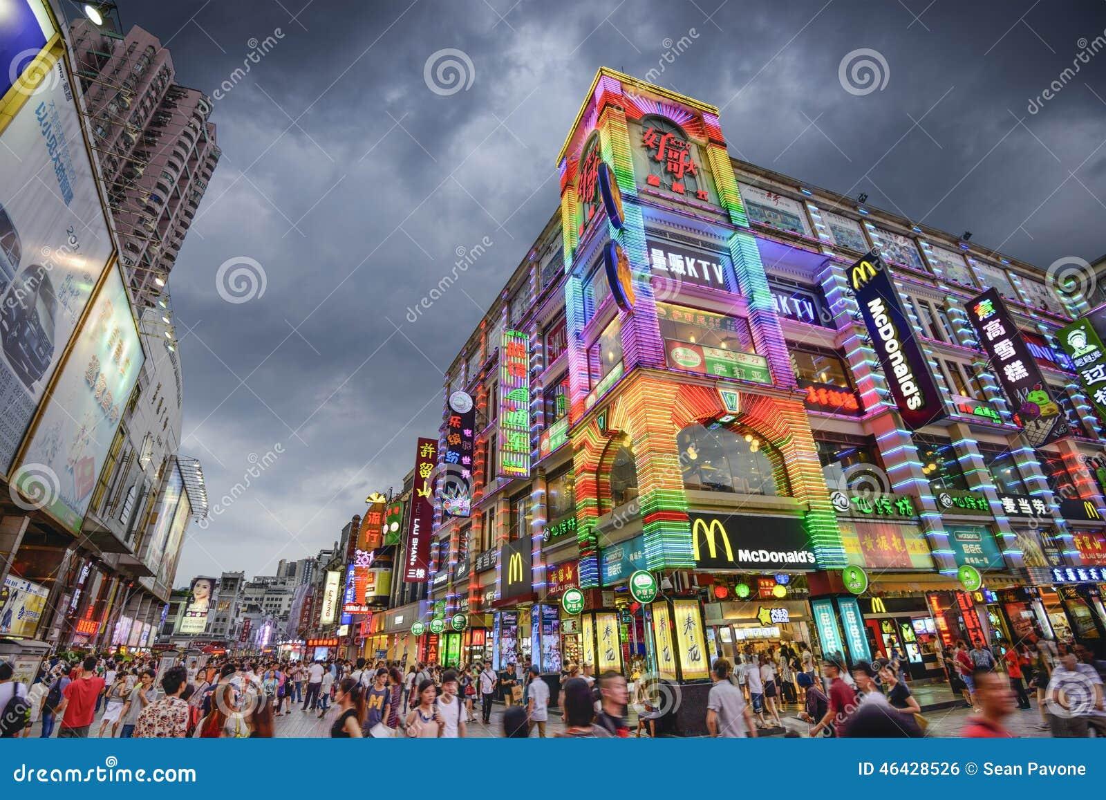 Guangzhou, het Winkelen van China Straat