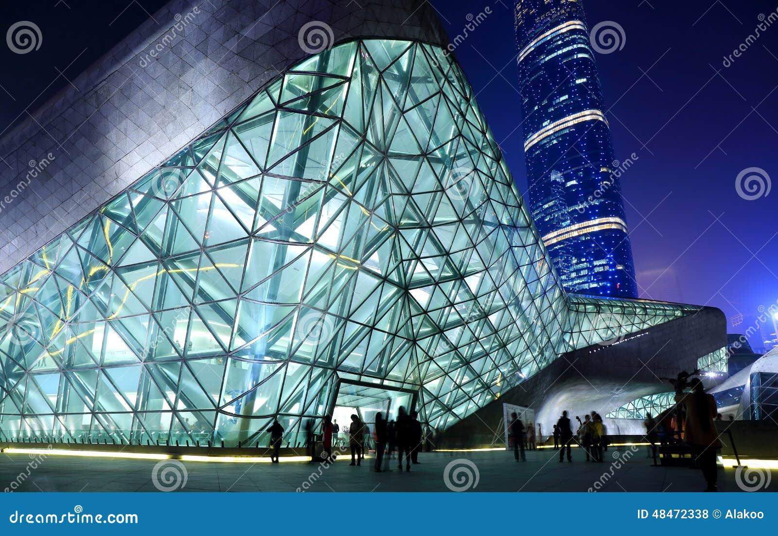 Guangzhou Opera House Modern Building Night ditorial Stock Photo ... - ^