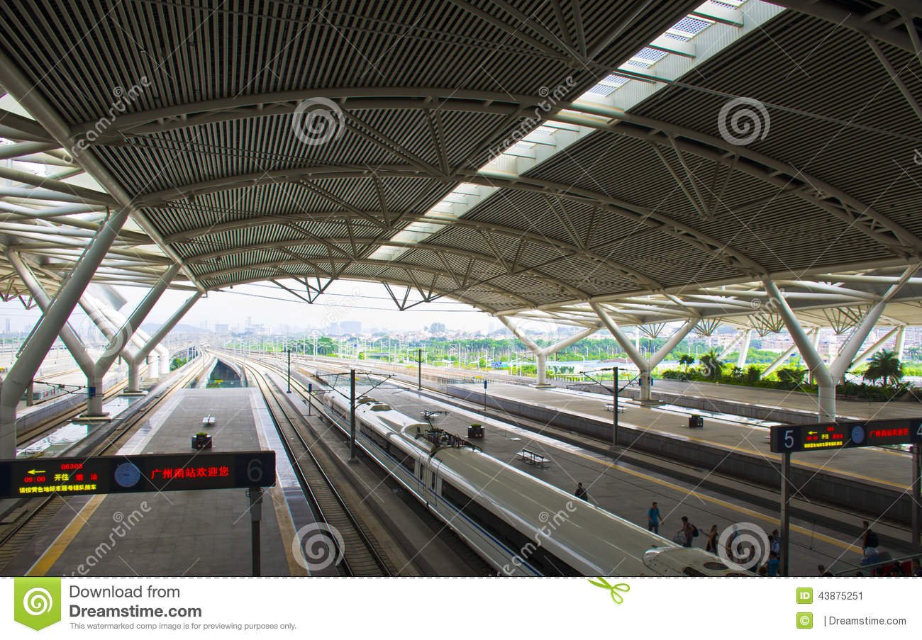 Guangzhou South Railway Station In China  Editorial Photo - Image of