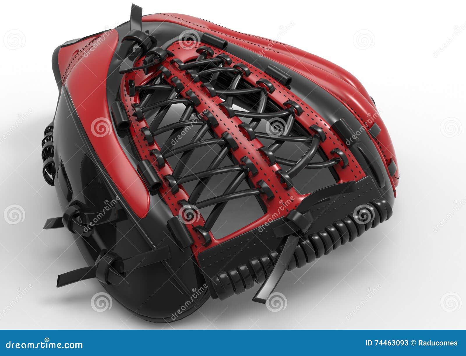 Guante de béisbol moderno stock de ilustración. Ilustración de negro ...