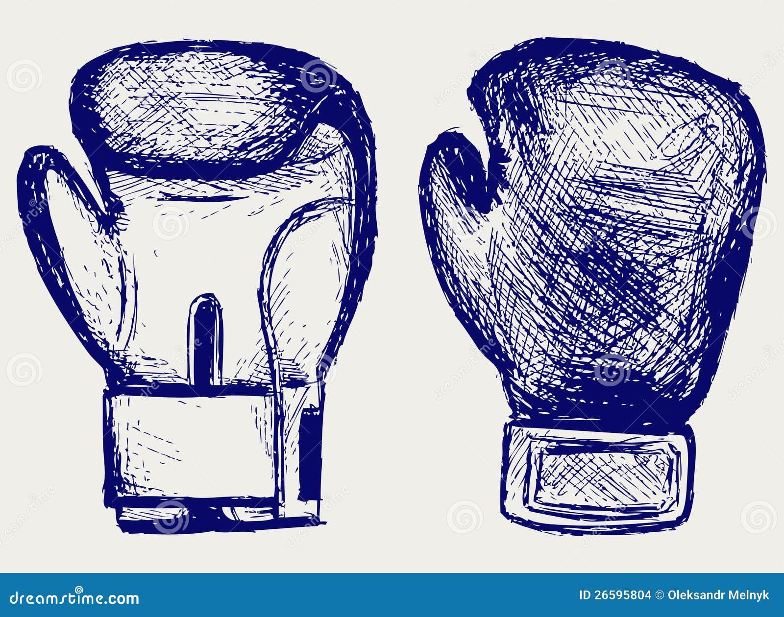 guantes de boxeo ilustración del vector ilustración de fondo 26595804