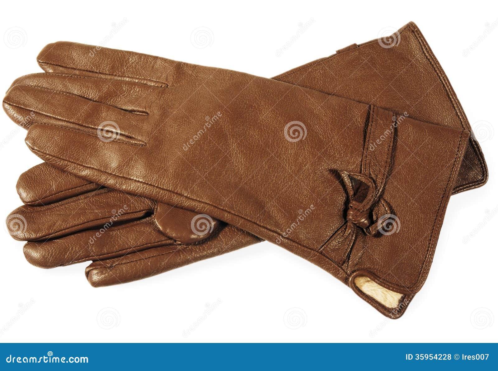 Guantes de cuero de Brown