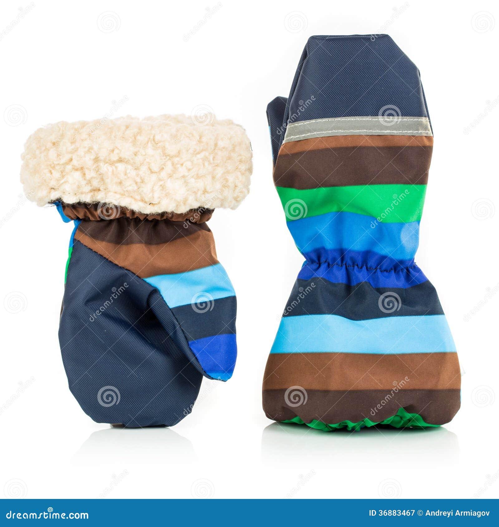 Download Guanti Dell'autunno-inverno Dei Bambini Immagine Stock - Immagine di caldo, mani: 36883467