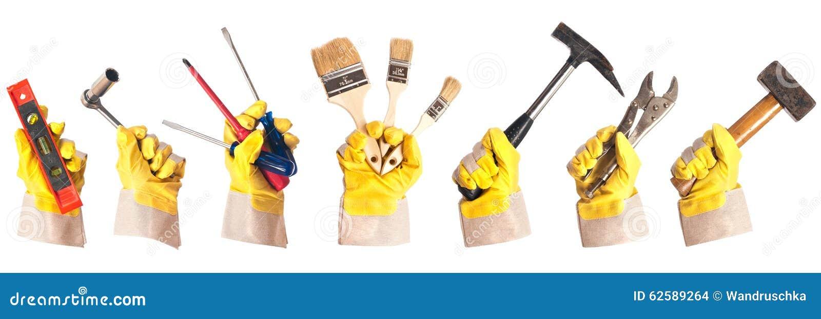 Guanti di lavoro con gli strumenti