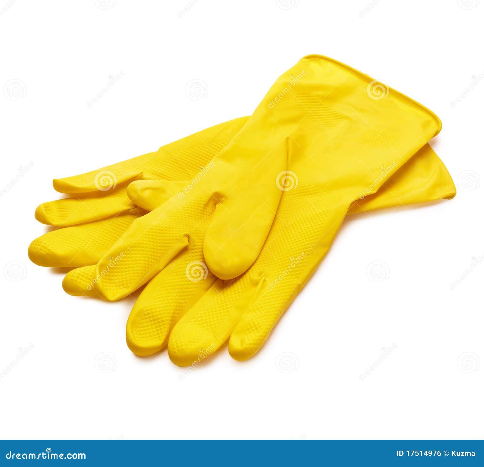 migliore selezione di migliore qualità per codici promozionali Guanti gialli fotografia stock. Immagine di lavaggio - 17514976