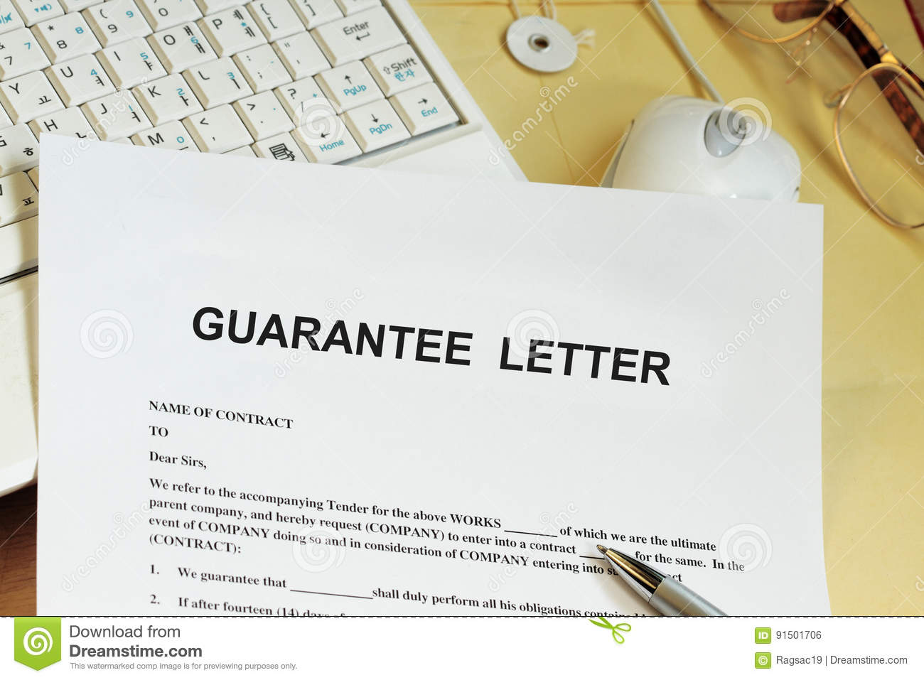 Guarantee Letter Stock Photo Image Of Document Blue