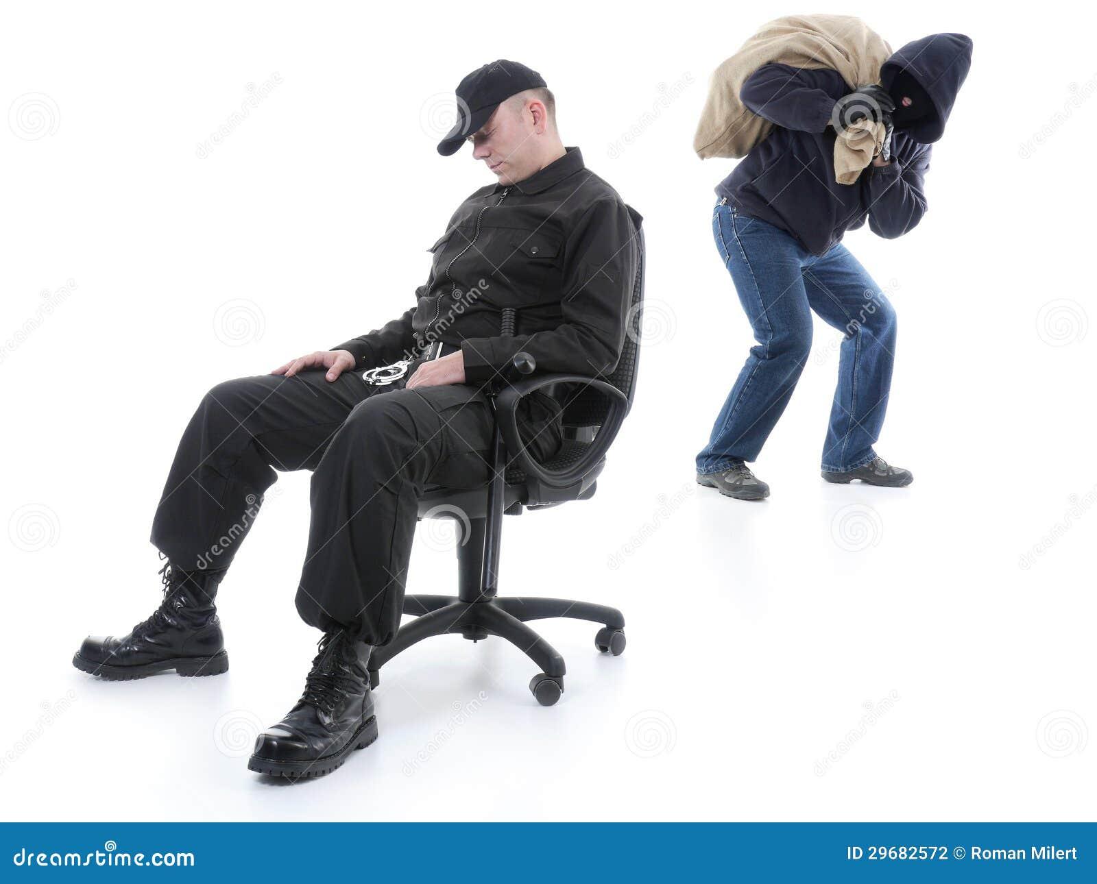Guard and burglar