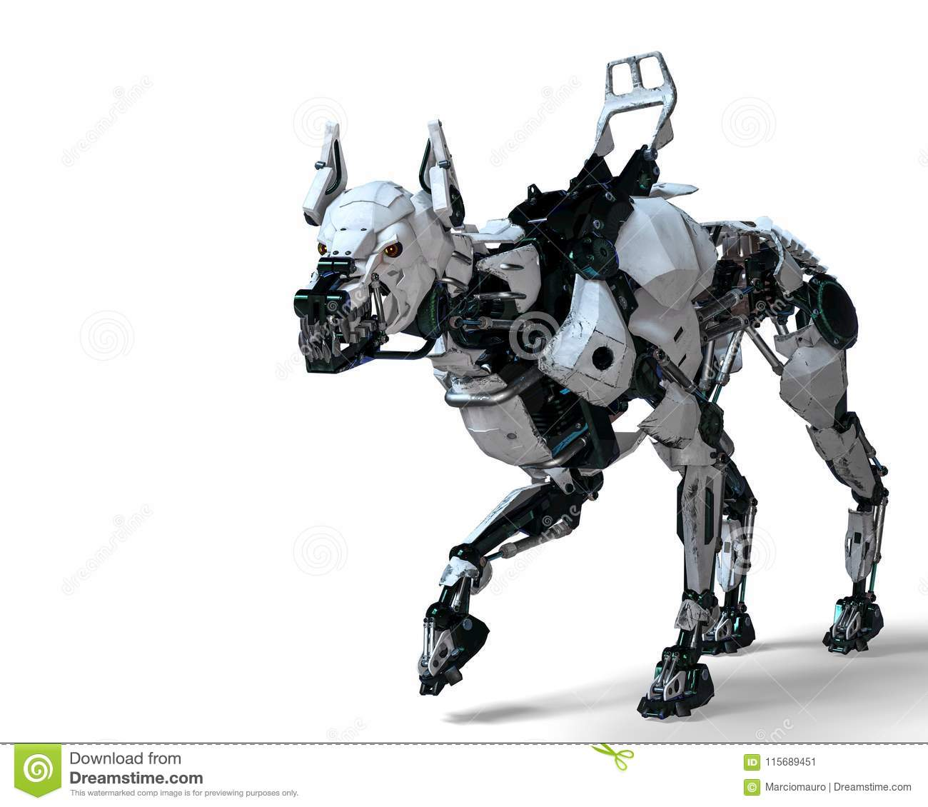 Guard Dog Robot Security System Stock Illustration