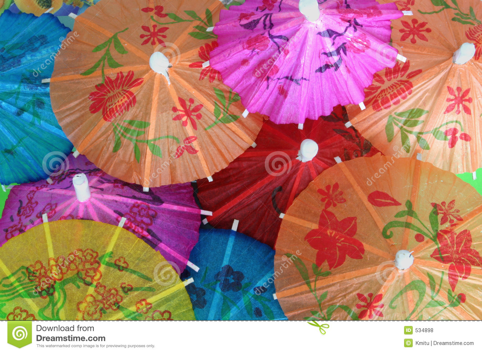 Guarda-chuvas asiáticos do cocktail