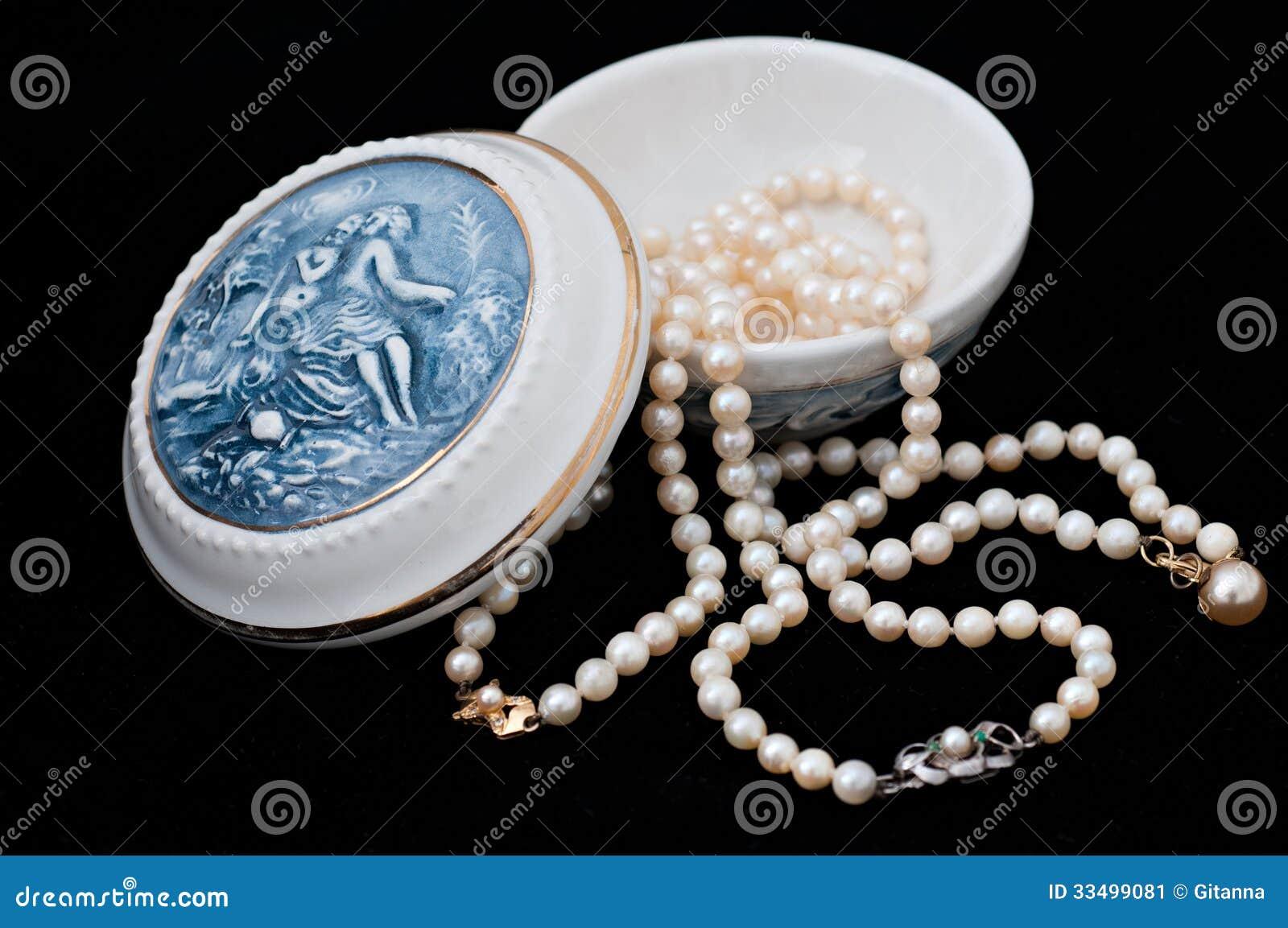 Guarda-joias da porcelana