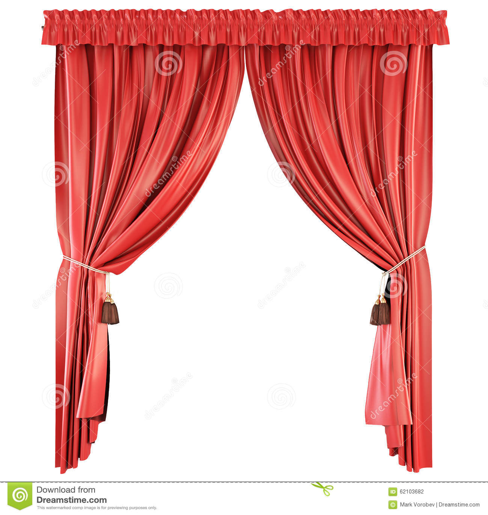 aislada en el fondo blanco cortinas rojas fotografa de archivo