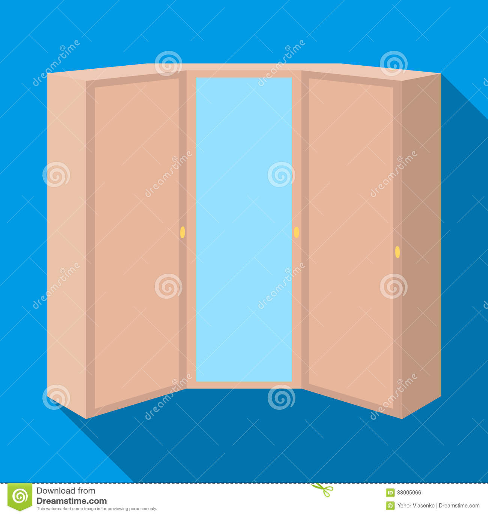 Guardaroba rosa con due porte e uno specchio guardaroba - Camera da letto particolare ...