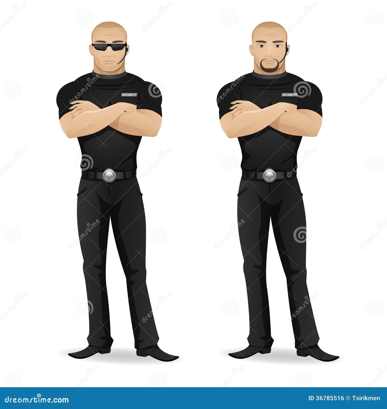 Guardia de seguridad de ?an del club nocturno