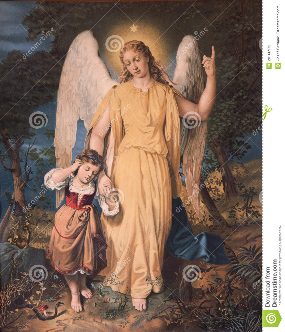 Guardian Angel With The Child Stock Image Image Of Christianity