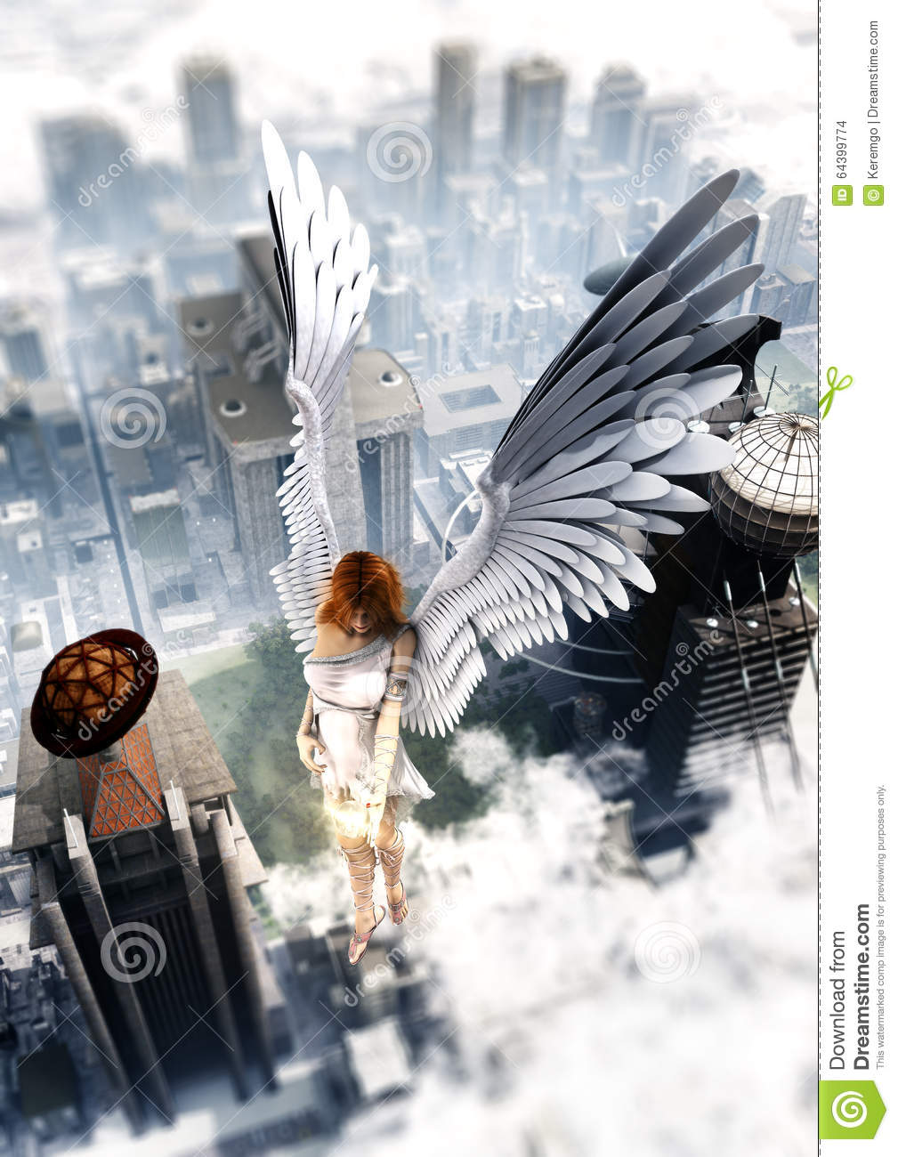Guardian Angel Over The City