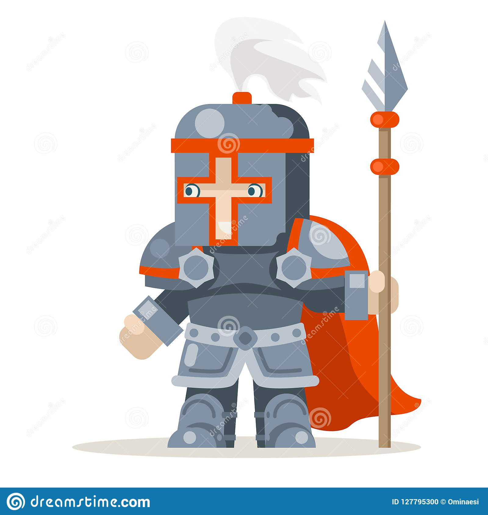 Guardian Lance Knight Spearman Fantasy Medieval Action RPG