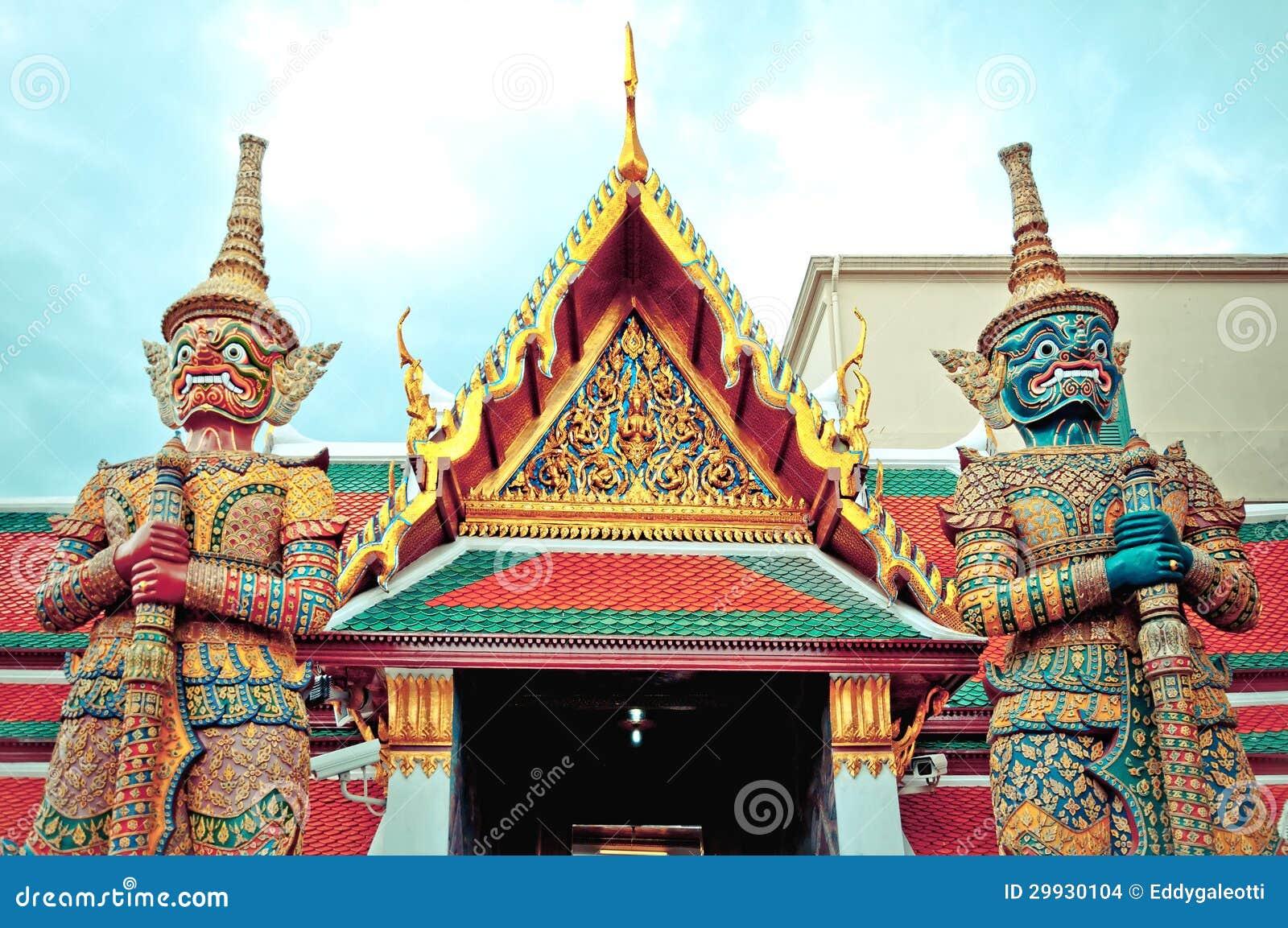 Download Guard Daemon - Royal Palace, Bangkok, Thailand. Stock Photo - Image of grand, protection: 29930104