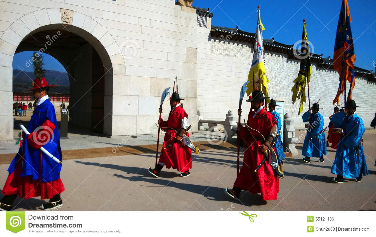 Guards Of Emperor Palace At Seoul  South Korea Editorial