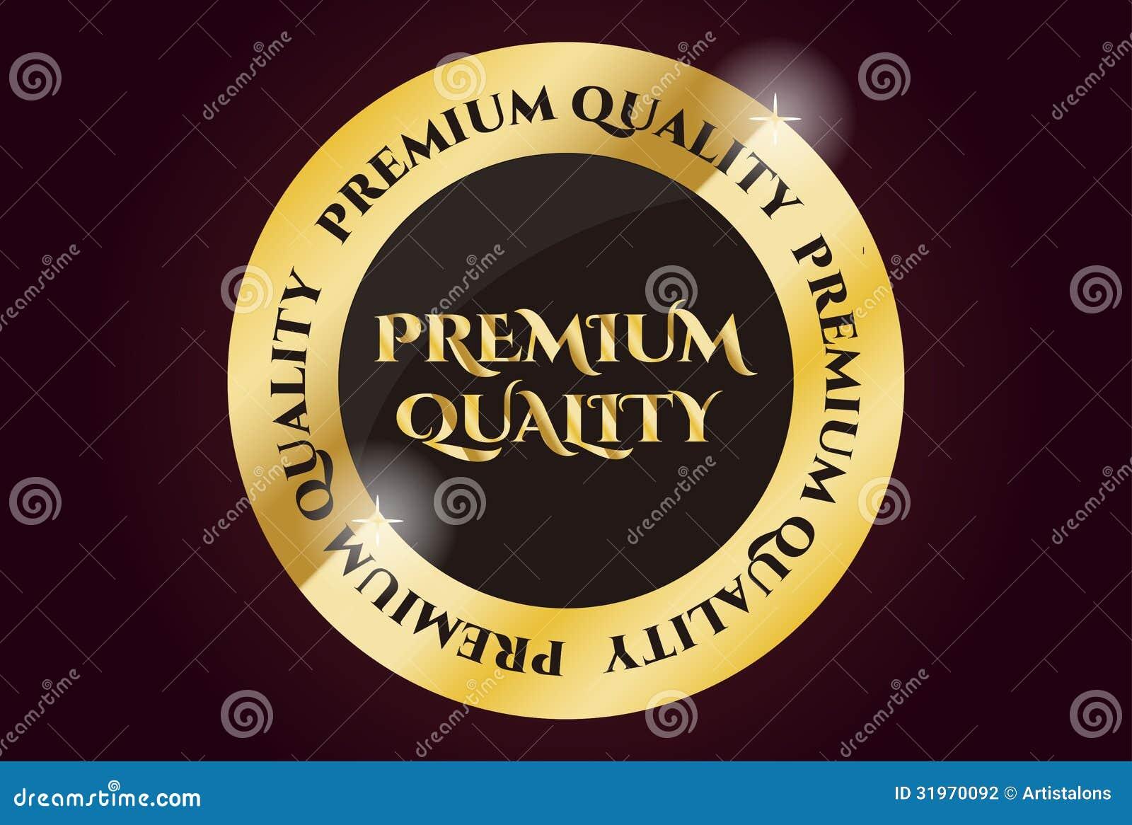 Guarnizione dorata di qualità premio