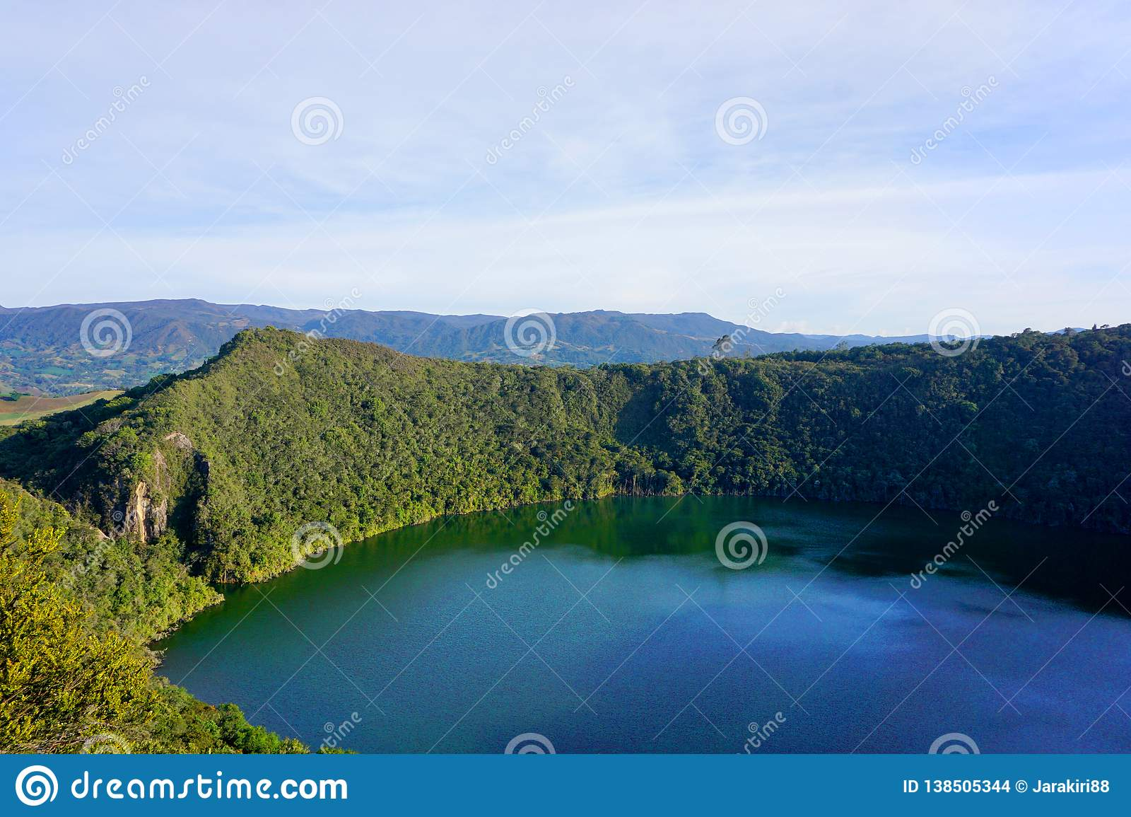 Guatavita, Colombia lagoon or lake el dorado legend