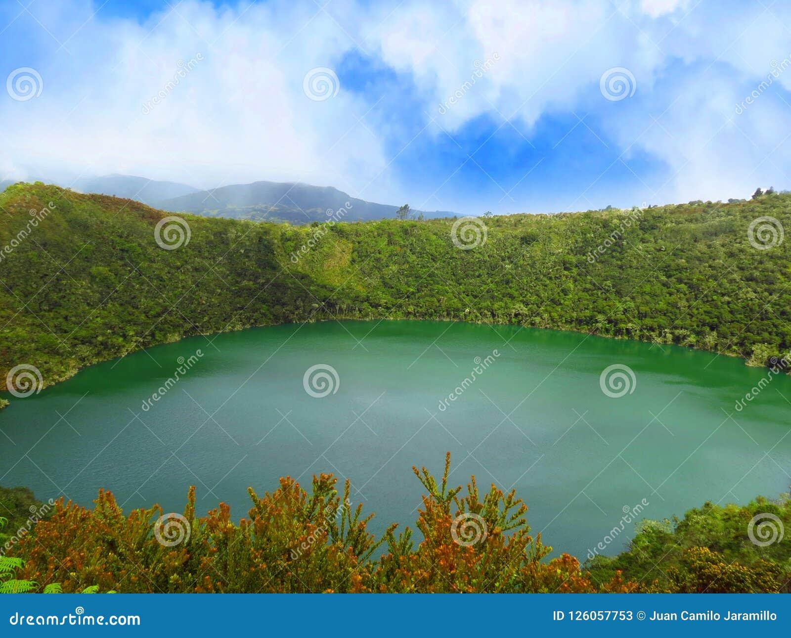 Guatavita för legend för lagun- eller sjöel-dorado