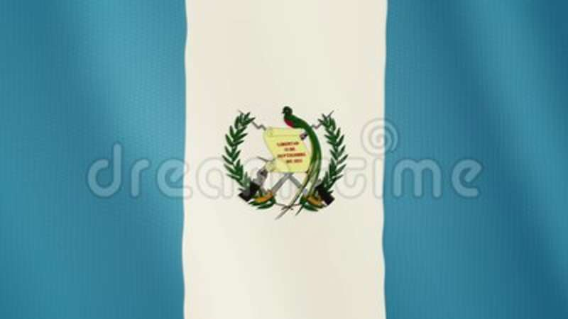 Guatemala Flag Waving Animation Full Screen Symbol Of The Country