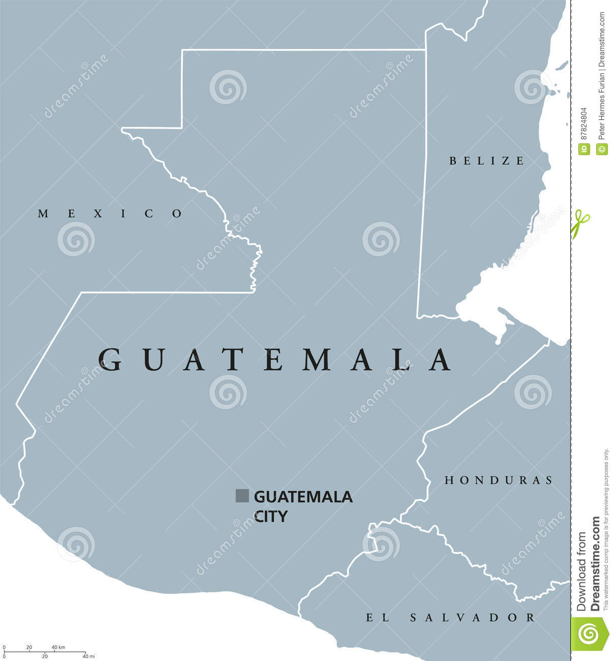 Guatemala political map stock vector. Illustration of background ...