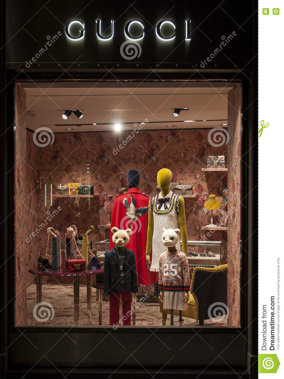 b29a2d627 Gucci kids window store editorial photography. Image of clothes ...
