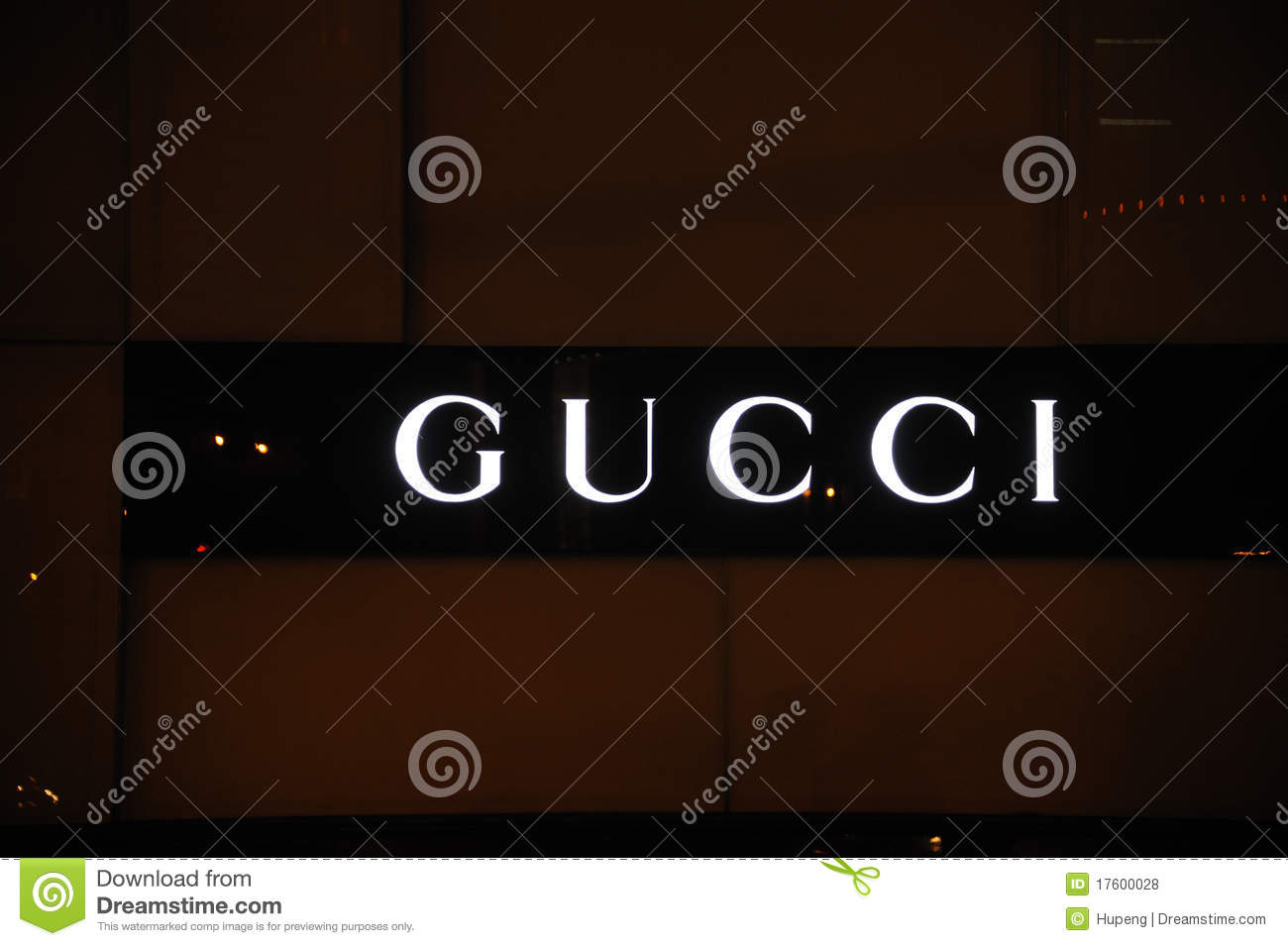 1f9f193afe3 Gucci logo editorial stock photo. Image of display