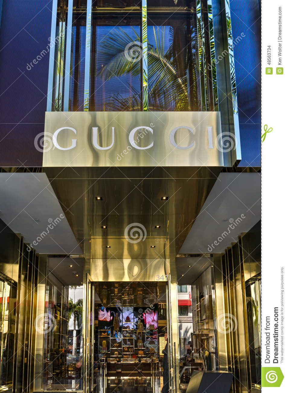 Gucci retail store exterior editorial stock image image for Retail shop exterior design