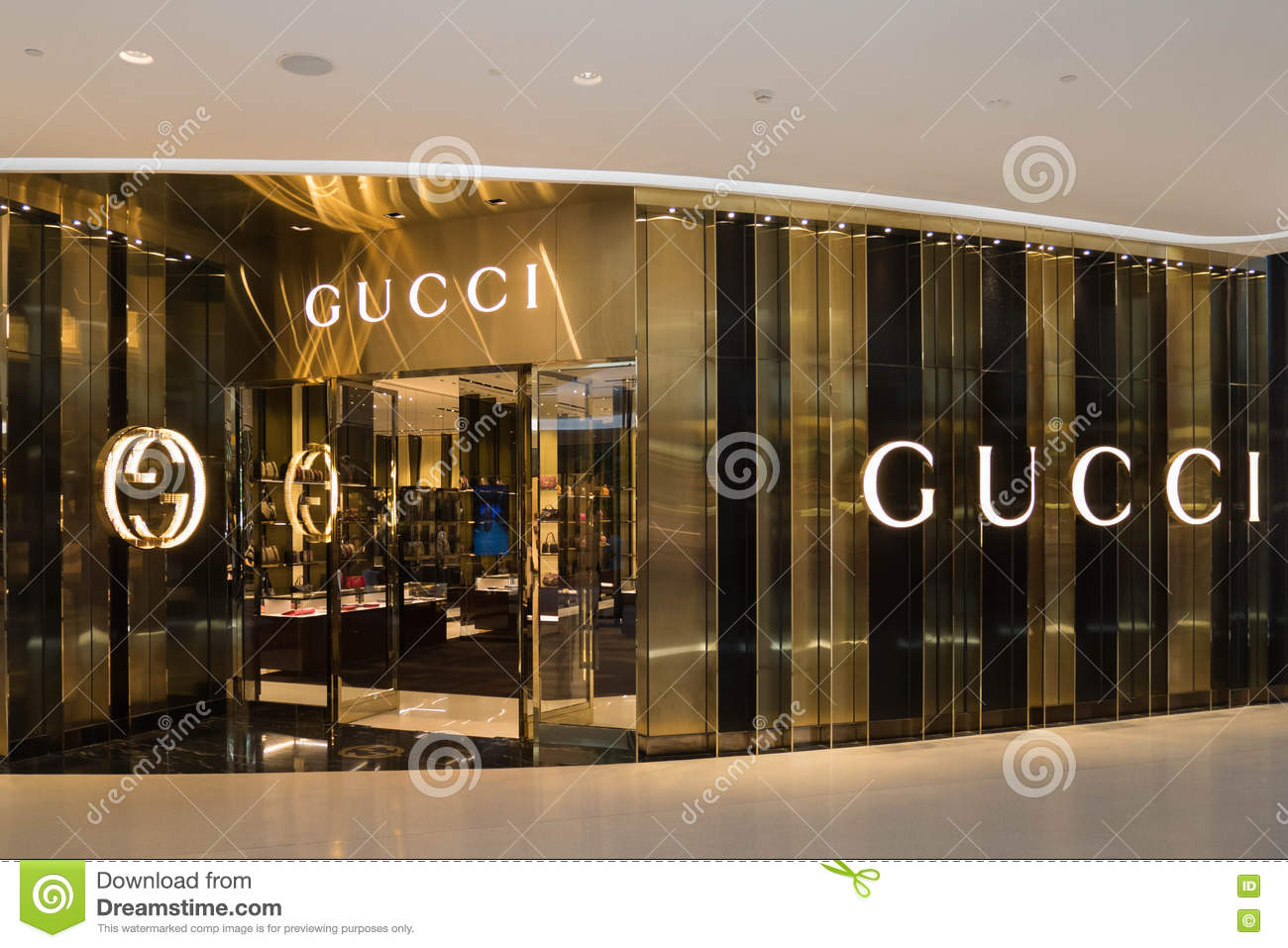 a72cf286ae5 GUCCI store at Central Embassy luxury shopping mall in downtown. Bangkok