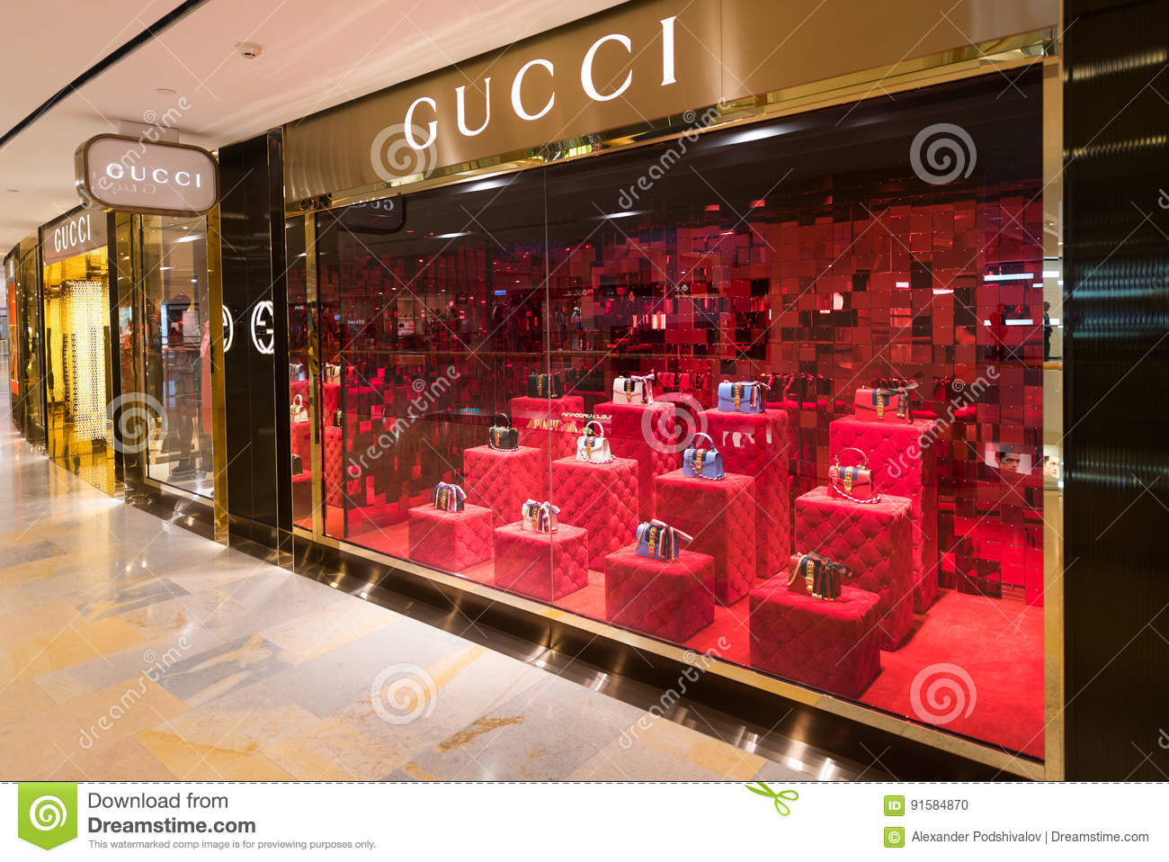 99ec32749b Gucci Store In The Pacific Place Mall, Hong Kong Editorial Image ...