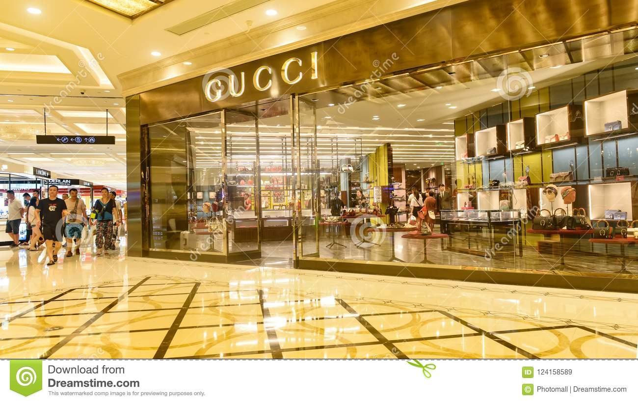 6d37edc50265e Gucci store editorial stock image. Image of china