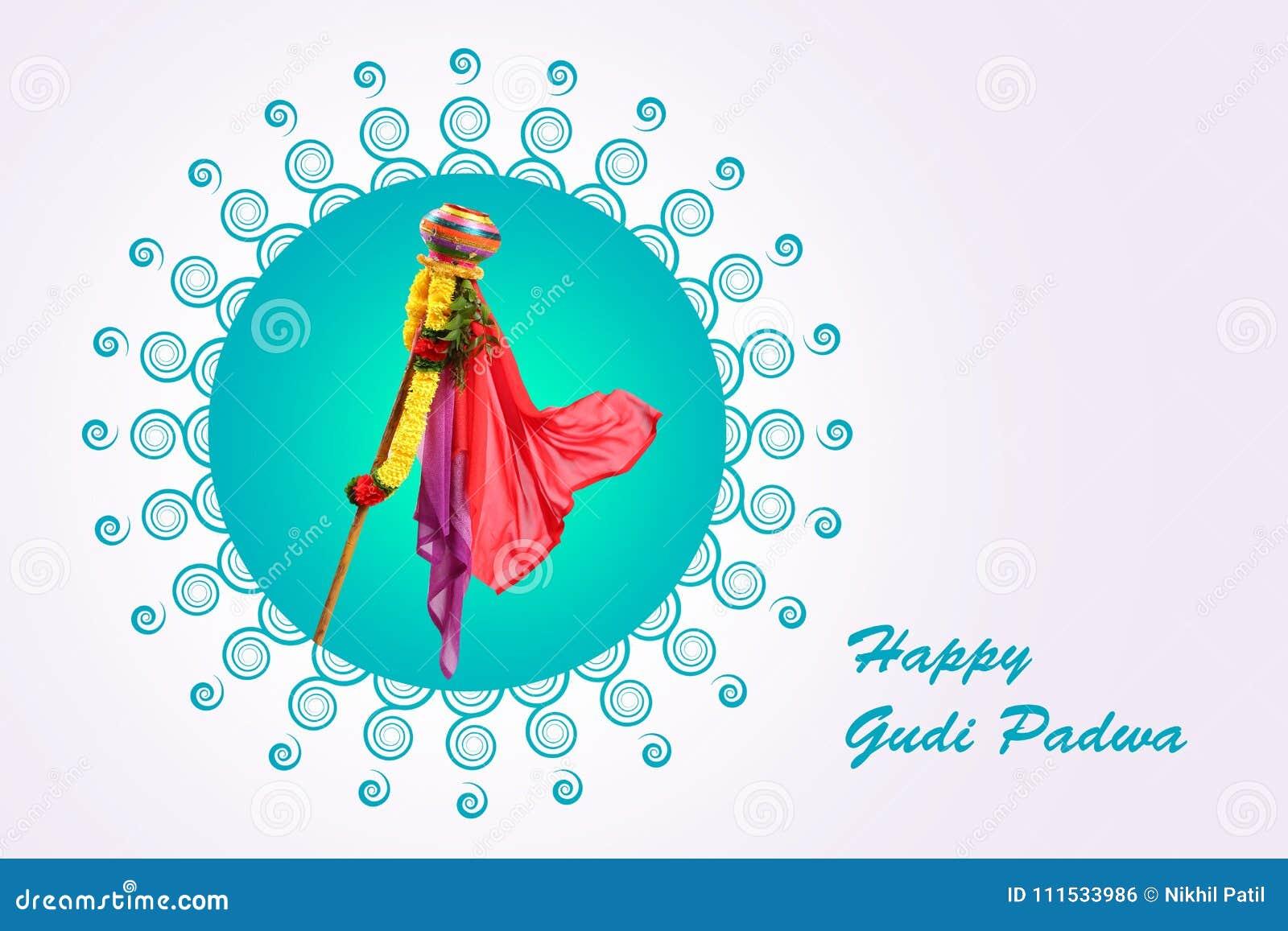 Gudi Padwa Marathi New Year Stock Illustration Illustration Of